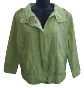 Chico's Neon Fall Autumn Casual Green Jacket