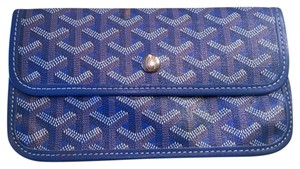 Goyard GOYARD POUCH Wallet from St Louis Bag-Bright Blue Color-Not Navy!