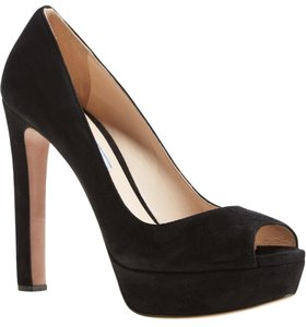 Prada Peep Suede black Pumps
