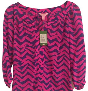 Lilly Pulitzer Top Pink and blue.