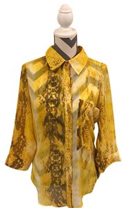 Arden B. Button Down Shirt Yellow