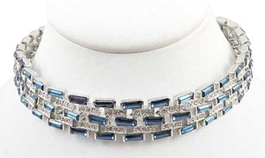 Kenneth Jay Lane CZ by Kenneth J. Lane Sapphire Necklace