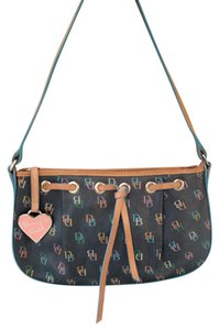 Dooney & Bourke Rainbow Tassel Heart Baguette