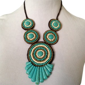 Panacea Cache Tri-Tone Turquoise Blue Graduated Necklace