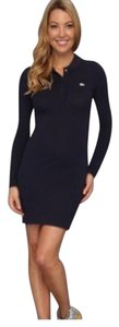 Lacoste short dress Navy on Tradesy