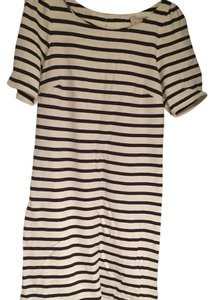 Anthropologie short dress White and blue striped on Tradesy