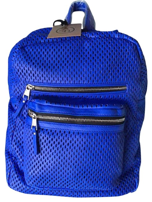 Item - Danica Perforated 125034 Cobalt Leather Backpack