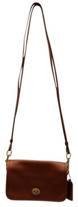 Coach Leather Small Turnlock Shoulder Bag