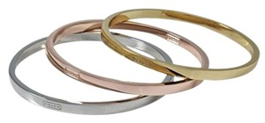 Coach Coach Signature Tri Color Bangle Bracelet