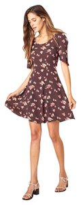 Christy Dawn short dress Black Floral A-line on Tradesy
