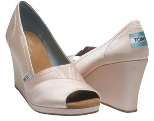 TOMS Pink Wedge Blush Wedges