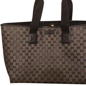 Gucci Tote in Black and Silver