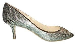 Jimmy Choo Peep Toe Wedding Champagne / Silver Formal