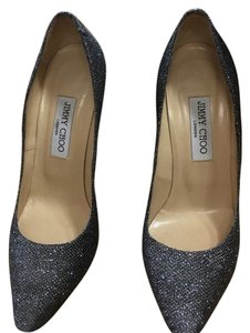 Jimmy Choo Anthracite Gray Metallic Pumps