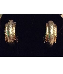 Other sterling silver, 14k Yellow Gold, hoop earrings