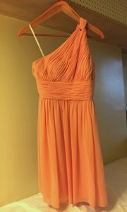 Donna Morgan Peach Fuzz Rhea Dress