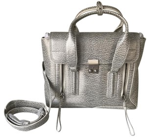 3.1 Phillip Lim Pashli Pashli Medium Pashli Satchel in Silver