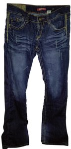 UNIONBAY Distressed 9 Long Boot Cut Jeans-Distressed