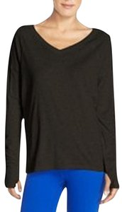 Zella Black High-Low Loose Fit Tee with Built-In Thumb-Holes