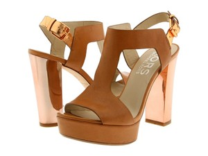 Michael Kors Peanut With Rose Gold Heel Sandals