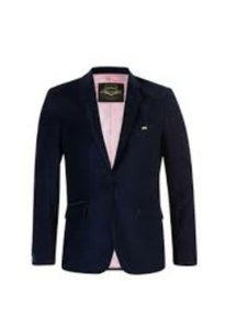 Moods Of Norway New Mens Sport Jacket Blazer Velvet Navy Slimfit Size M