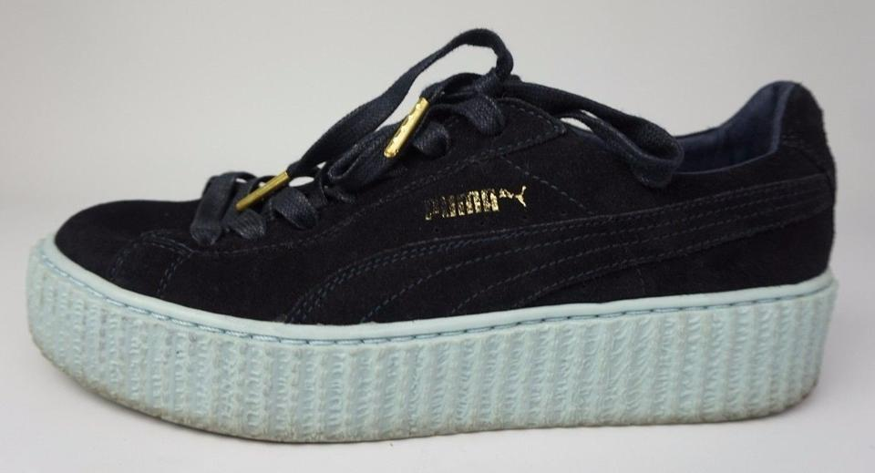 sneakers for cheap 0ef55 c8217 Puma Black Fenty By Rihanna Women's Creeper Sneakers Suede Peacoat Blue  Flats Size US 8.5 Regular (M, B)