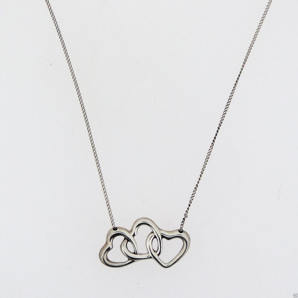 934b9471a1963 Tiffany & Co. Silver Sterling Three Hearts Pendant Necklace
