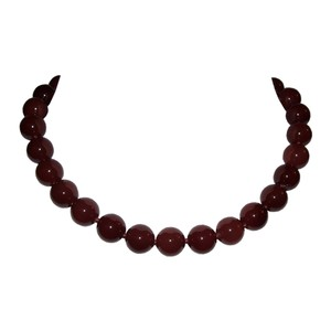Alberto Juan Carnelian Medium Beaded Princess Necklace