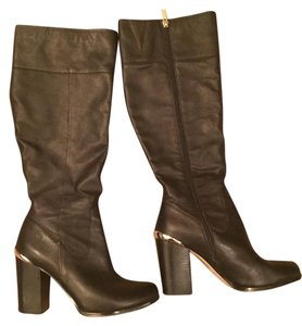 White House | Black Market Leather Riding Boot Black Boots
