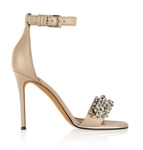 Givenchy Embellished Crystals Strappy Stiletto Cocktail Nude Sandals