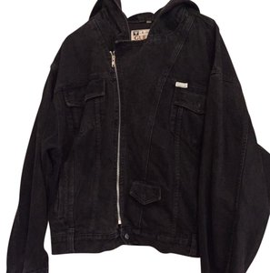 Guess By Marciano Black Womens Jean Jacket