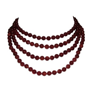 Alberto Juan Carnelian Beaded Flapper Rope Necklace Alberto Juan