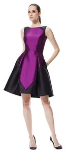 Theia Color-blocking Party Dress