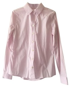 Banana Republic Iron Free Business Causual Pink Collared Shirt Button Down Shirt Light pink