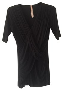 Bailey 44 Date Night V-neck Draped Top Black