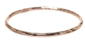 Ippolita Ippolita Sterling Silver Rose Gold Plated Hammered Bangle Bracelet