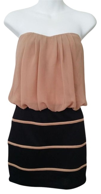 Item - Pink and Black Tube Top. Sweetheart Neckline Mini Night Out Dress Size 8 (M)