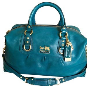 Coach Satchel in Teal/turquoise