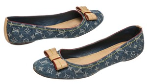Louis Vuitton Blue Flats