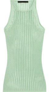 Alexander Wang Knit Mesh Top Mint