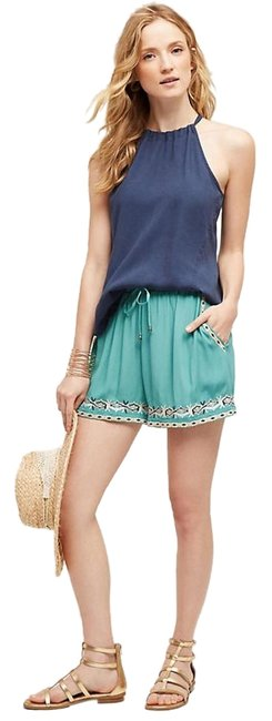 Item - Turquoise XS By: Hei Embroidered Isle Shorts Size 2 (XS, 26)