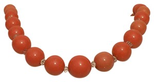Trifari Trifari Vintage Orange Beaded Handknotted Strand Necklace