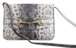 Gucci Bright Bit Horsebit Animalier Shoulder Bag