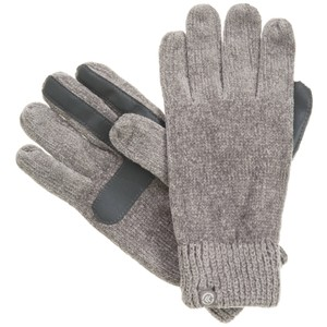 Isotoner Gray Chenille Knit smarTouch Lined Womens Gloves One Size