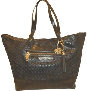 Juicy Couture Refurbished Leather X-lg Tote in Black