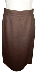 Louis Feraud Top Stitching Seams Brown Leggings