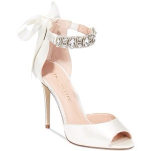 Enzo Angiolini Nordia Satin Peep-toe Sandal Wedding Shoes