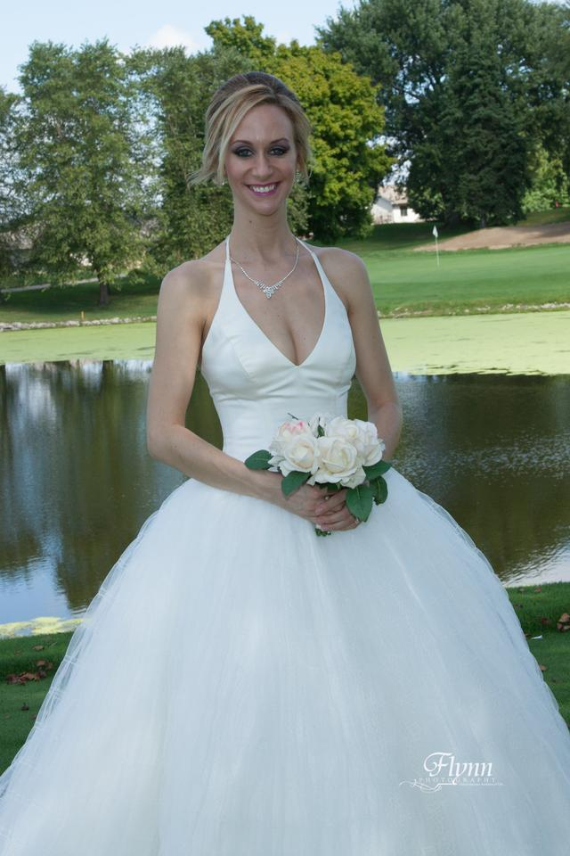 56d0a10a1fed White by Vera Wang Ivory Satin with Tulle Vw351303 Formal Wedding Dress  Size 2 (XS ...