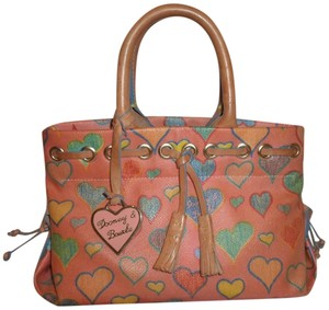 Dooney & Bourke Refurbished Coated Canvas Tote in Orange and Multiple