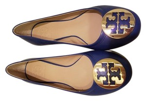 Tory Burch Greek blue/ gold Flats